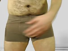 Hairy Amateur Solo Male Masturbation