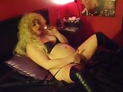 Cigarette, Blonde, Masturbation, Smoking, Cigarette