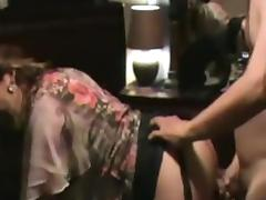 Hot Latina milf creampie filmed by husband