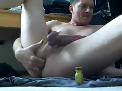 Dildo Poppers & Cum at home