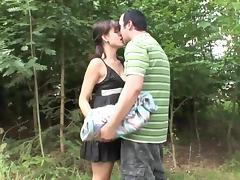 Outdoor sex of Caucasian couple