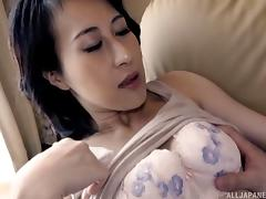 Small breasted Asian milf eaten out and moaning for more