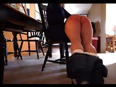 FM - OTK Hairbrush Spanking on the Bare