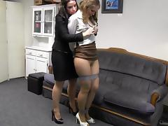 Girl boss with secretary