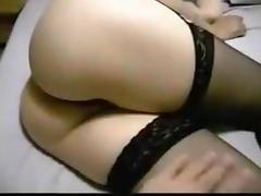 anal beading and anal fuck then i tie her to the bed and play with her clit