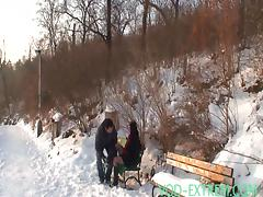 Old man Fucks young Girls outdoor