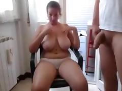 BBW, BBW, Big Tits, Couple, Handjob, Webcam