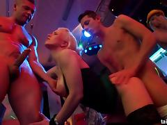 Dazzling babes getting the rough pussy penetration in the nightclub