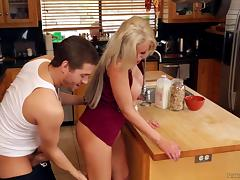 Riding, Adorable, Blonde, Couple, Hardcore, Kitchen