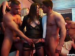 Sensual senoritas sucking and riding schlongs in the nightclub