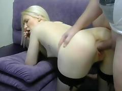 White girl fucked anal