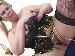 BBW fucks her toy then licks her juices from the dildo