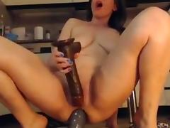 Mature hardcore anal with huge dildos and squirt