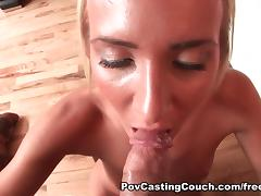 All, Audition, Blonde, Blowjob, College, Cumshot