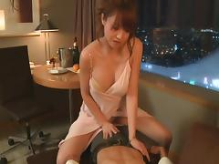 With his wife away he gets busy with his sexy Japanese mistress