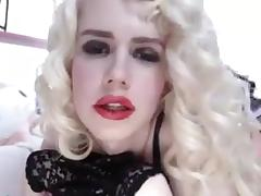 junior sexy blonde russian tranny on cam