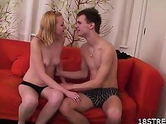 Amateur couple naughty foreplay