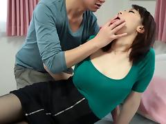 Making lusty love to a Japanese pussy and cumming inside her