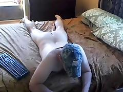 Cute dude is beating off in his room and memorializing himself on web camera