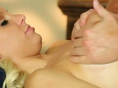 Babe oiled by masseur