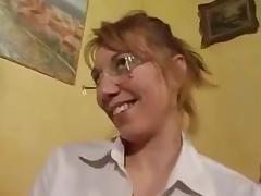Glasses, Anal, Ass, Assfucking, Blonde, French