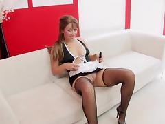 Maid Maturbating