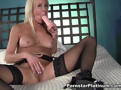 Erica Lauren in Black Stockings Play - PornstarPlatinum