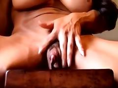 Masturbation, Amateur, Big Clit, Clit, Masturbation, Muscle
