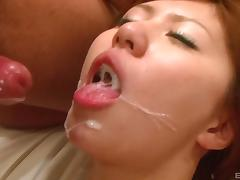 Wild Asian slut fucked hard and fingered until she squirts