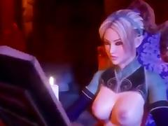 Hot futa elf on futa elf action