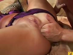 Hard anal with a nasty slut in a lingerie set