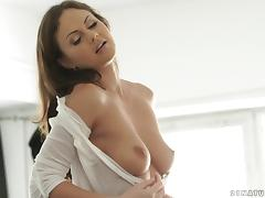 Pretty British girl with gorgeous titties fucked up the ass