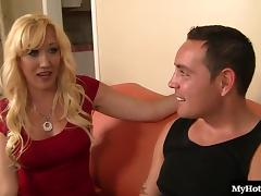 Alana Evans is a blonde lady thats got a few years on her