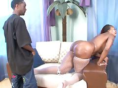 Fat black ass chick bends over and offers her pussy