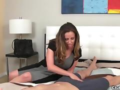 Milf long socks handjob