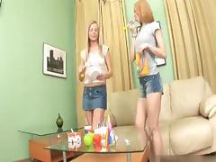 Two sweet birthday girls
