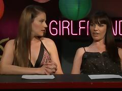 Two lesbians expressing their sentiments in a well organised interview