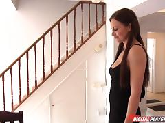 Sexy Tina Kay sucks dick and gets fucked in her British pussy