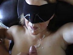 Blindfolded massive Facial