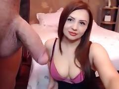 Brunette, Amateur, Brunette, Couple, Webcam