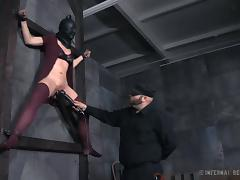 masked, tied on the wall and fucked