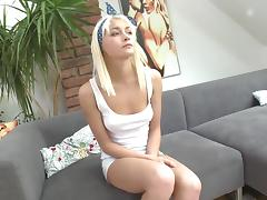 Cute petite slut rough throatfuck