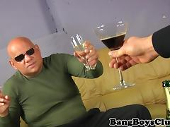 Amateur euro cocksucked by older guy
