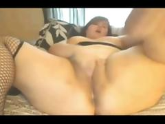 Horny fat bbw spreading and cumming wet squirting pussy