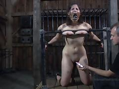 crazy device bondage and a dominant master