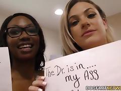 Lesbian Dahlia Sky and Skyler Nicole enjoying each other