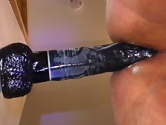 Balls deep 13 inch black dildo