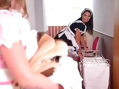 Lesbian maids fucked