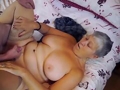 Mature chubby Christina and Sam Bourne together