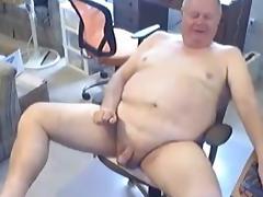 Grandpa cum on cam 3